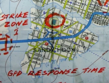 Gotham City Map of Sandy Hook from Batman Rises