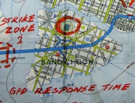 Gotham City Map of Sandy Hook from Batman Rises